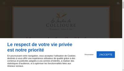 Site internet de Le Jardin de Collioure