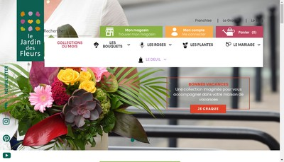 Site internet de Le Jardin des Fleurs