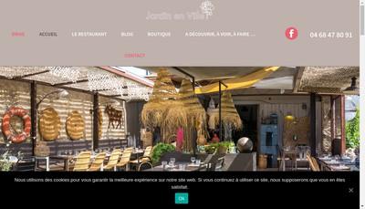 Site internet de Le Jardin en Ville