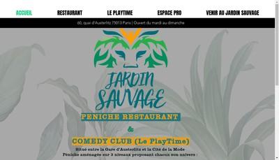 Site internet de Le Jardin Sauvage