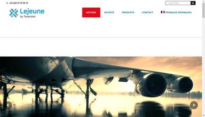 Site internet de SAS Lejeune