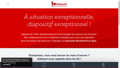 Site internet de Adequat Interim