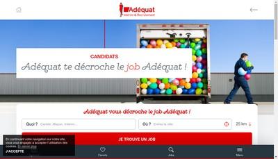 Site internet de Adequat Interim