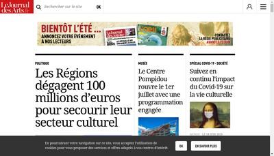Site internet de Le Journal des Arts