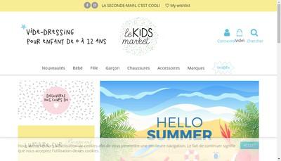 Site internet de Le Kids Market