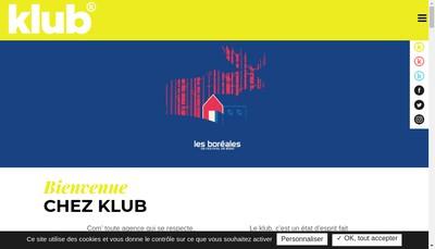 Site internet de New Klub