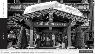 Site internet de Hotel le Lana Se