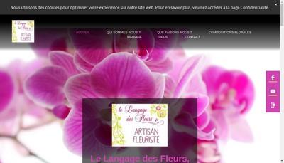 Site internet de Le Langage des Fleurs