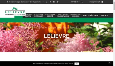 Site internet de Lelievre