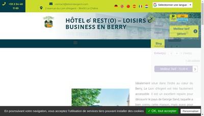 Site internet de Hotel du Lion d'Argent et des Tanneries