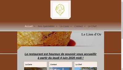 Site internet de Le Lion d'Or