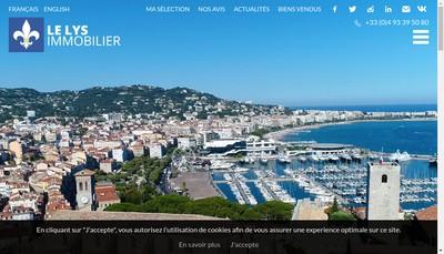 Site internet de Le Lys Immobilier
