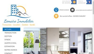 Site internet de Lemaire Immobilier
