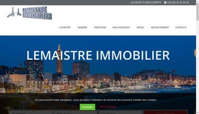 Site internet de Lemaistre Immobilier