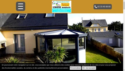 Site internet de Lemaitre Menuiserie