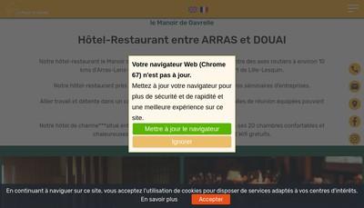 Site internet de SARL du Manoir