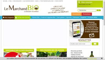 Site internet de Le Marchand Bio