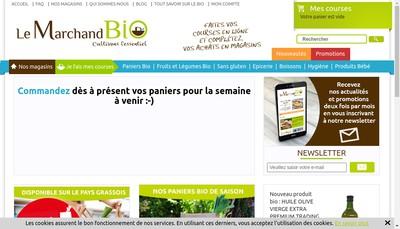 Site internet de Le Marchand Bio Com