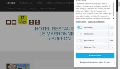 Site internet de Hotel le Marronnier