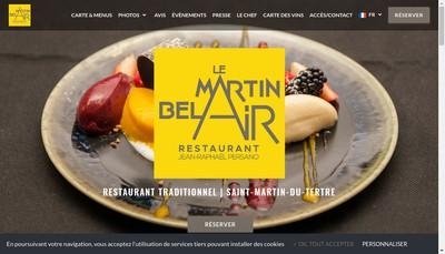 Site internet de La Table du Bel Air