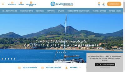 Site internet de Village Vacances le Mediterranee