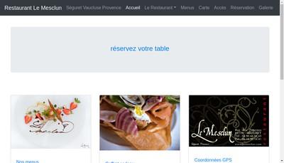 Site internet de Restaurant les Mesclun