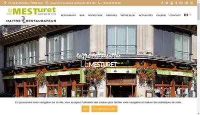 Site internet de Le Mesturet