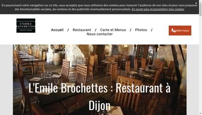 Site internet de L'Emile Brochettes
