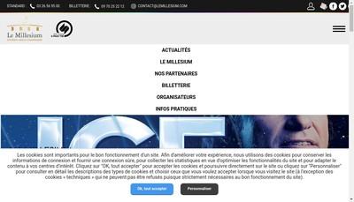 Site internet de SNC Societe d'Exploitation le Millesium