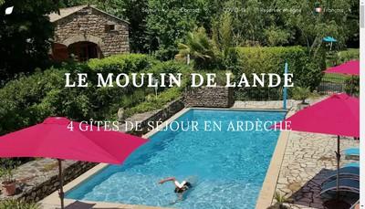 Site internet de Le Moulin de la Lande