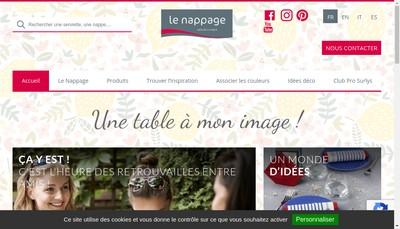 Site internet de Le Nappage