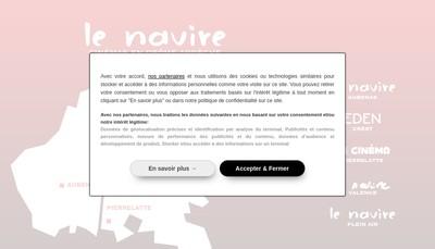 Site internet de Le Navire