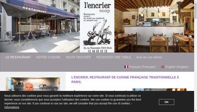 Site internet de L'Encrier