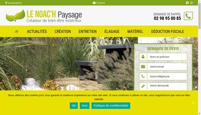 Site internet de Le Noac'H Paysage