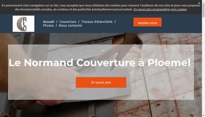 Site internet de Le Normand Couverture