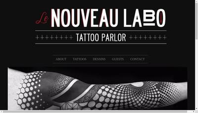 Site internet de Le Nouveau Labo