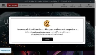 Site internet de Lenovo France SAS