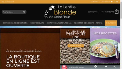 Site internet de La Lentille Blonde