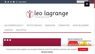 Site internet de Leo Lagrange Petite Enfance en Pays de Gex