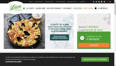 Site internet de Leon de Bruxelles
