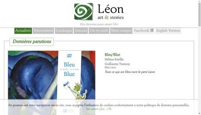 Site internet de Leon - Art et Stories