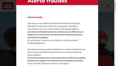 Site internet de Entreprise Generale Leon Grosse