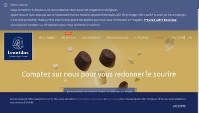 Site internet de Leonidas
