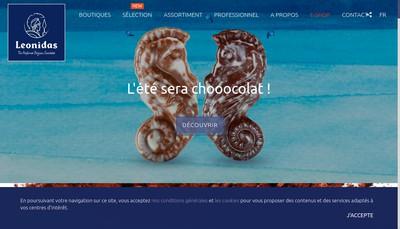Site internet de Confiserie Leonidas