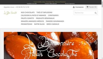 Site internet de SARL la Bonbonniere Palais Chocolathe