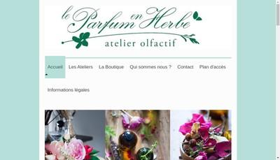 Site internet de Le Parfum en Herbe