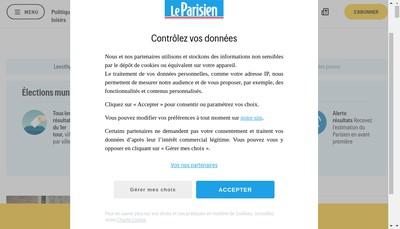 Site internet de Grand Debit Parisien