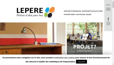 Site internet de SAS Lepere