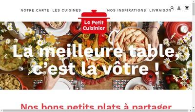Site internet de Le Petit Cuisinier