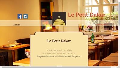 Site internet de Le Petit Dakar